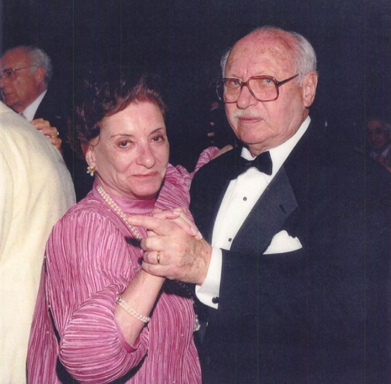 Margot and Albert in retirement in Palm Beach, FL. Dancing at the Formal Dinner Dance of the Town of South Palm Beach at the Four Season's Hotel in March of 1998