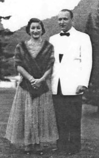At the Balsams at Dixville Notch, N.H. in 1953. Margot & Albert all dressed up for the formal Dinner
