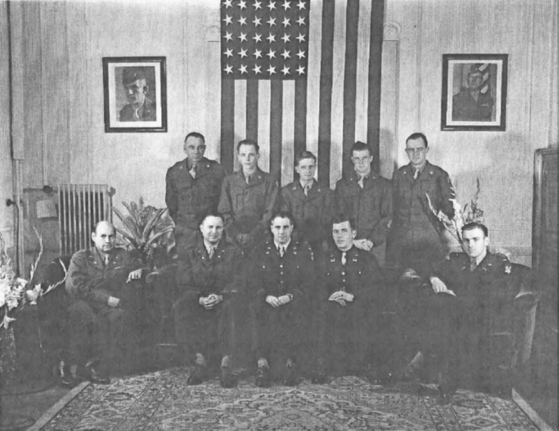 American Military Government for the District Berlin-Zehlendorf-Wannsee September 1945 at our Headquarters the former German Philatelic Museum