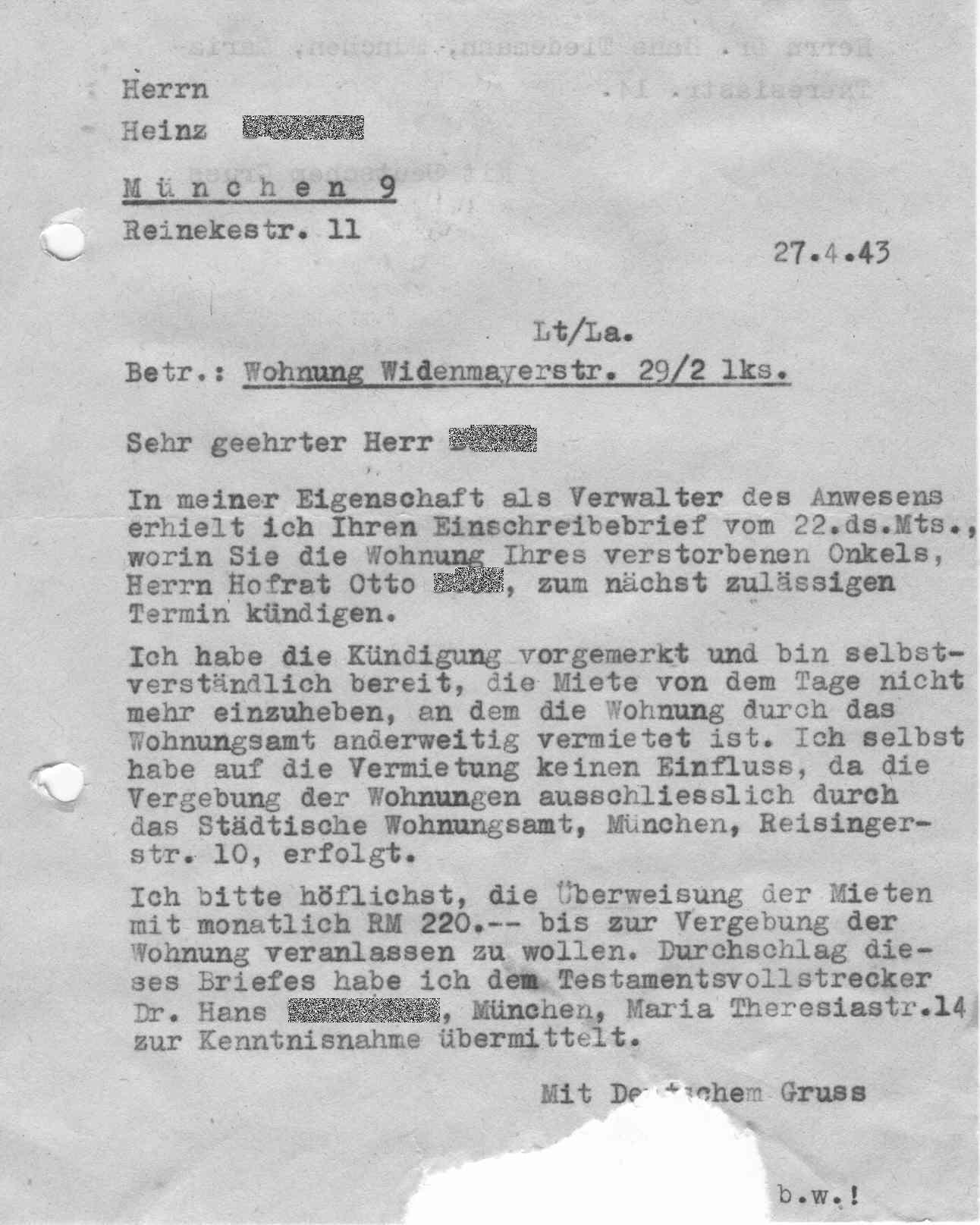 Brief Für Vermieter : Gelsenzentrum gelsenkirchen schicksal von frau henriette
