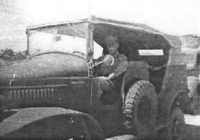 1943 in Camp Hood Texas, Albert Gompertz leading a convoy