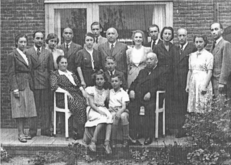 Photograph of the last time the Isacson's and Gompertz and all their children met in Velsen, Holland. Two days before Albert, Fritz Rolf and their mother Betty sailed for America. It was also the day the Germans invaded Poland.