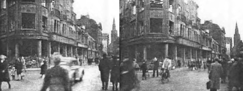 Photos taken by Albert Gompertz while visiting Gelsenkirchen as U.S. Soldier in October 1945