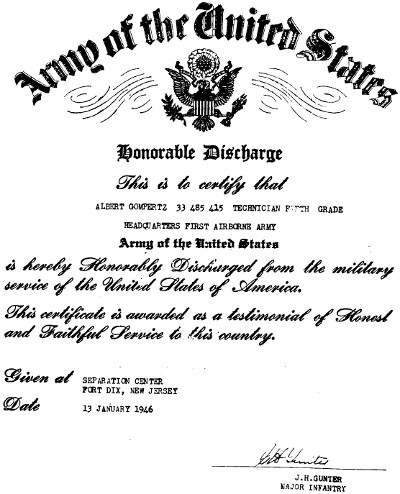 Army of the United States - Honorable Discharge