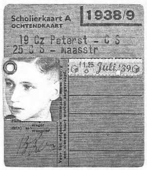 My Identification card as transient refugee in Holland