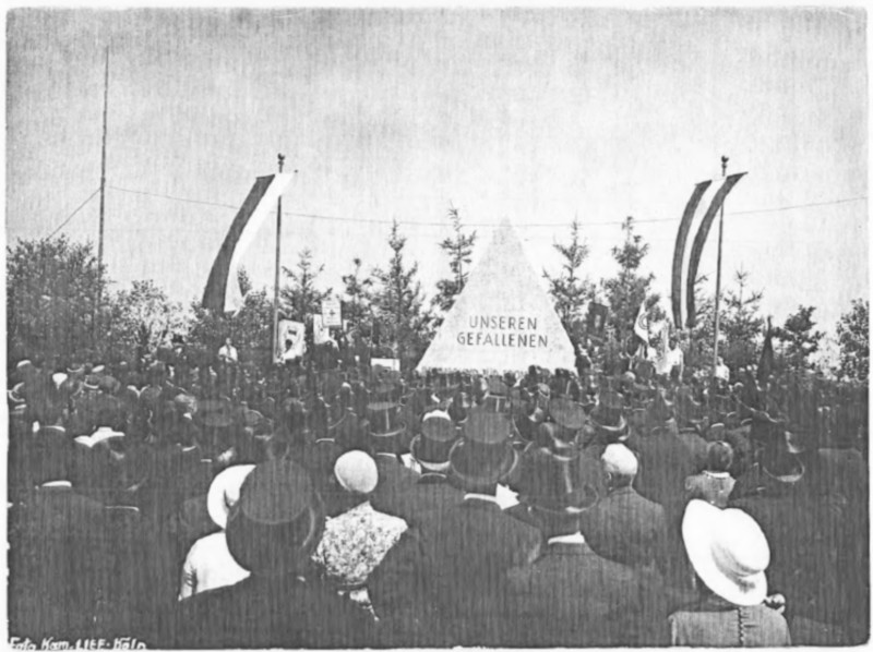 Dedication of RJF (National Organization of Jewish Soldiers) In Cologne (Köln) in Memory of 12.000 Jewish Soldiers killed in the First World War while serving in the German Army