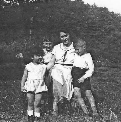 Mutti and her three boys on a picnic in 1932